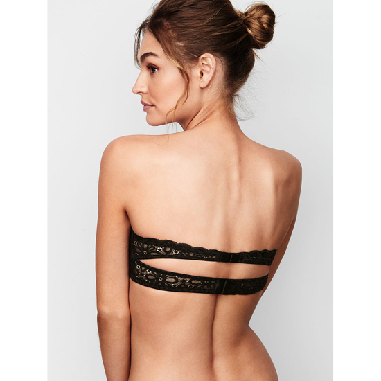 VICTORIA\'S SECRET NEW! Strapless Bralette Black Outlet Store