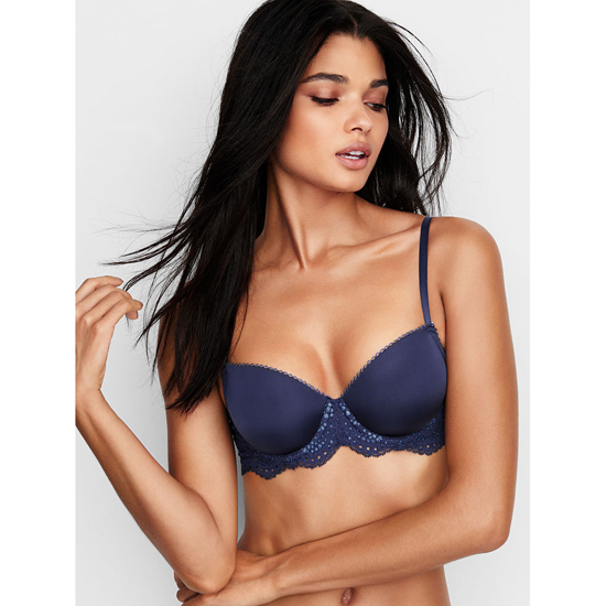 VICTORIA'S SECRET Demi Bra Ensign With Solid Lace Outlet Store