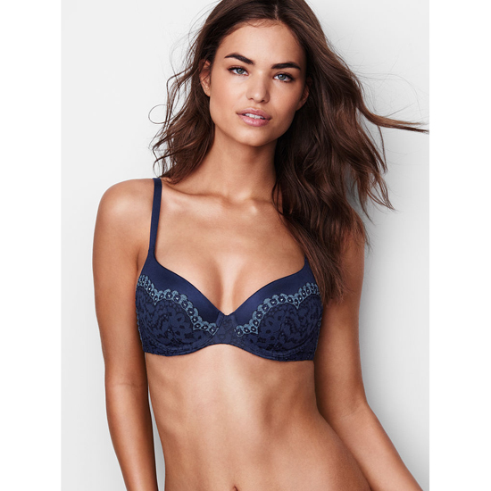 VICTORIA'S SECRET Demi Bra Ensign With Faded Denim Crossdye Outlet Store