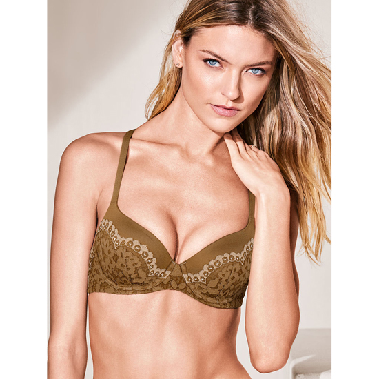 VICTORIA\'S SECRET Demi Bra Bronze Brown With Almost Nude Crossdye Outlet Store