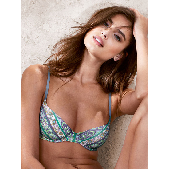 VICTORIA\'S SECRET NEW! Lightly Lined Demi Bra Blue Paisley Outlet Store
