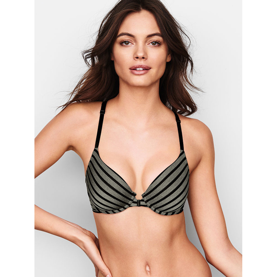 VICTORIA'S SECRET Demi Bra Front-Close Black Outlet Store