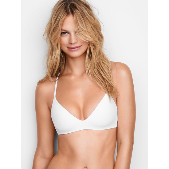 VICTORIA\'S SECRET Lightly Lined Wireless Bra White Outlet Store
