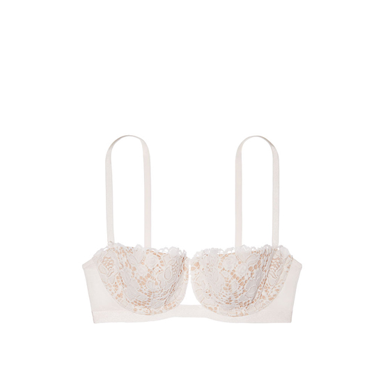 VICTORIA\'S SECRET Lace Balconet Bra Coconut White With New Nude Outlet Store