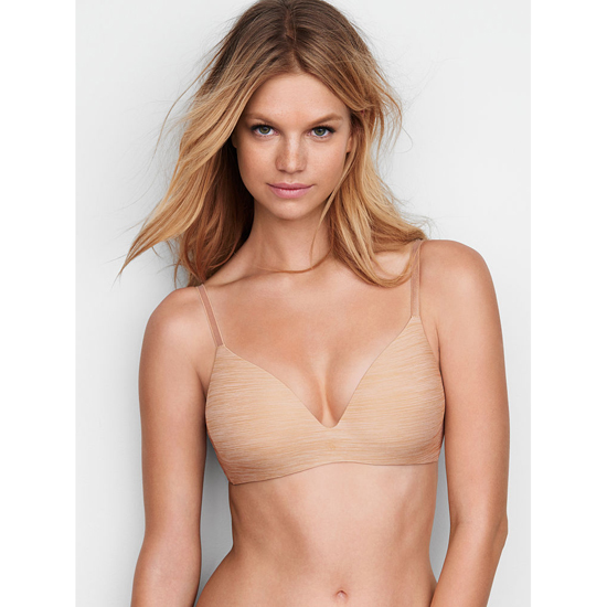 VICTORIA\'S SECRET NEW! Wireless Bra Almost Nude Marl Outlet Store