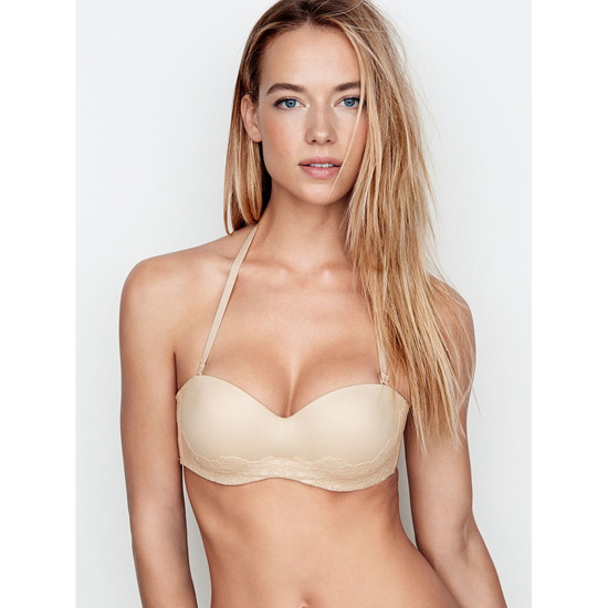 VICTORIA\'S SECRET Multi-Way Bra Champagne Lace Outlet Store