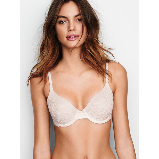 VICTORIA'S SECRET NEW! Perfect Coverage Bra Silver Pewter Outlet Store