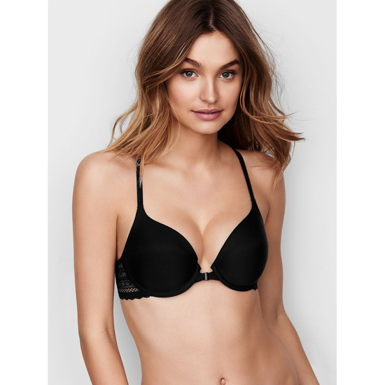 VICTORIA\'S SECRET NEW! Perfect Coverage Bra Black Triangle Lace Racerback Outlet Store