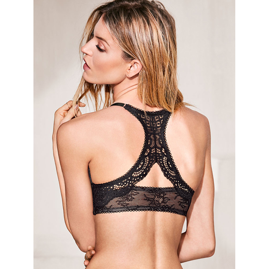VICTORIA\'S SECRET NEW! Push-Up Bra Front-Close Black Lace With Chantilly Lace Outlet Store