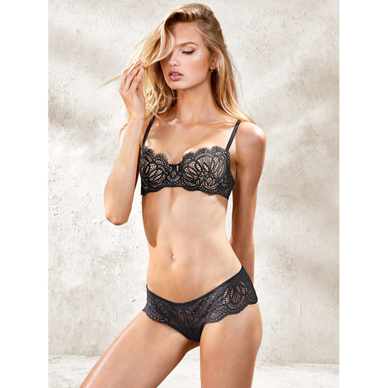 VICTORIA\'S SECRET NEW! The Unlined Uplift Bra Black Lace Outlet Store