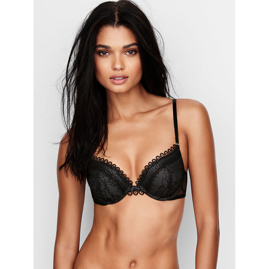 VICTORIA'S SECRET NEW! Push-Up Bra Black Crochet Lace Outlet Store
