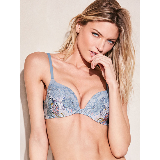 VICTORIA\'S SECRET NEW! Add-1½-Cups Push-Up Bra Caravan Print Outlet Store
