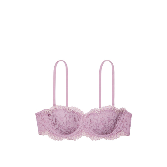 VICTORIA\'S SECRET NEW! Strapless Balconet Bra Fair Orchid With Sheer Pink Crossdye Outlet Store