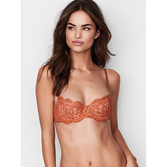 VICTORIA'S SECRET NEW! The Unlined Uplift Bra Ginger Glaze Lace Outlet Store