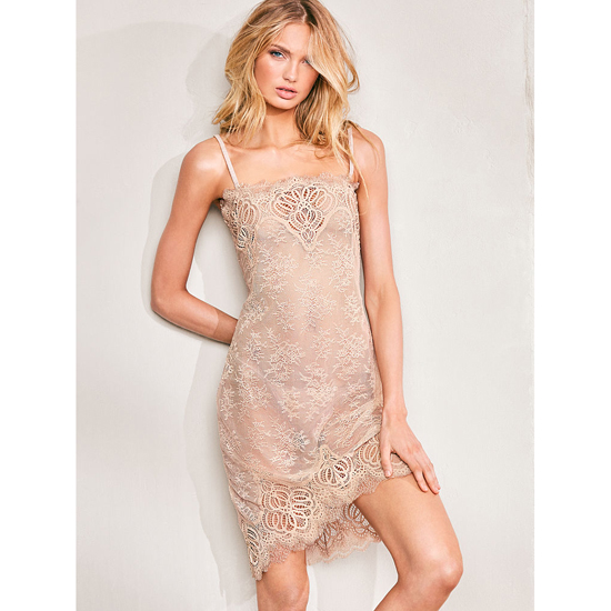 VICTORIA'S SECRET NEW! Crochet Lace Slip Sugar Cookie Outlet Store