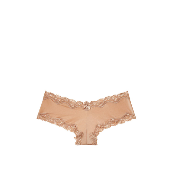 VICTORIA\'S SECRET Lace-Trim Cheeky Panty Light Nude Outlet Store