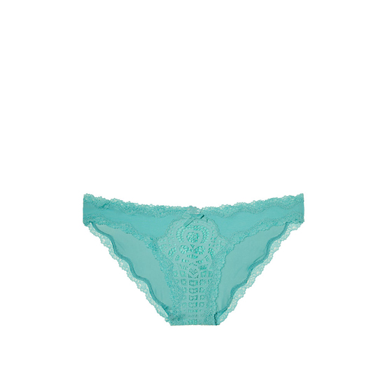 VICTORIA\'S SECRET NEW! Crochet Lace Cheekini Panty Cozumel Teal Outlet Store