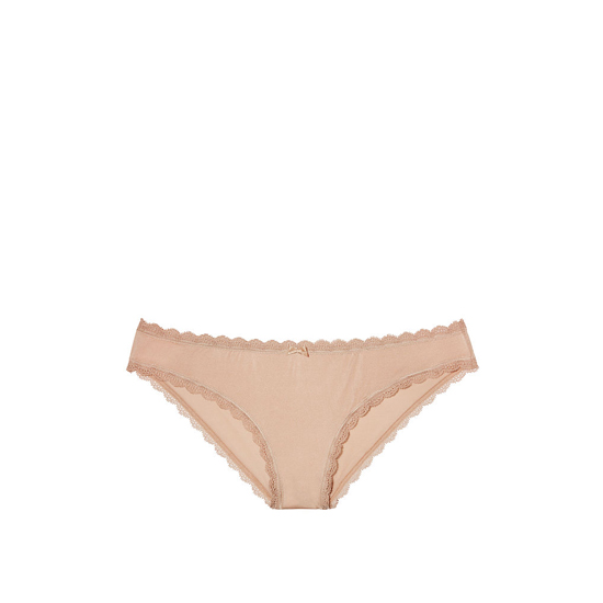 VICTORIA\'S SECRET Lace-trim Cheekini Panty Nude Lace Trim Outlet Store