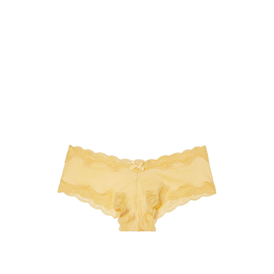 VICTORIA'S SECRET NEW! Lace-Trim Cheeky Panty Light Comet Outlet Store