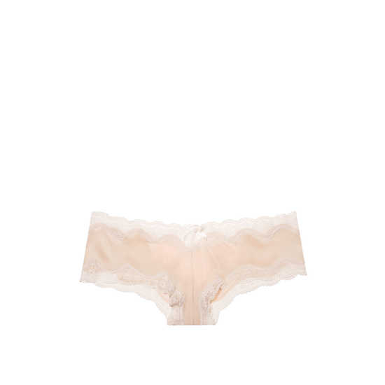 VICTORIA'S SECRET NEW! Strappy Lace-up Cheeky Panty Champagne Outlet Store