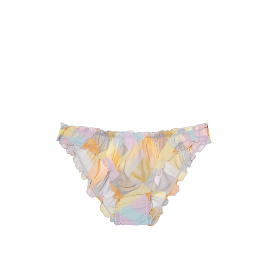 VICTORIA'S SECRET NEW! Ruffled Cheekini Bloomer Panty Multi Patchwork Print Outlet Store