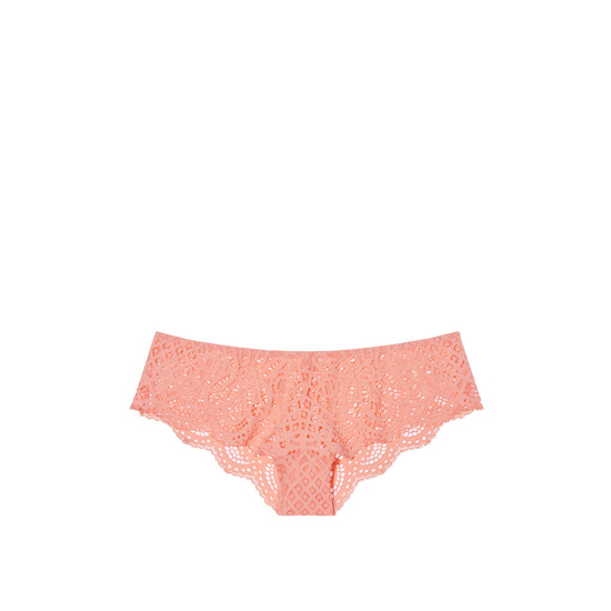 VICTORIA'S SECRET NEW! Crochet Lace Cheekster Panty Lip Smacker Peach Outlet Store