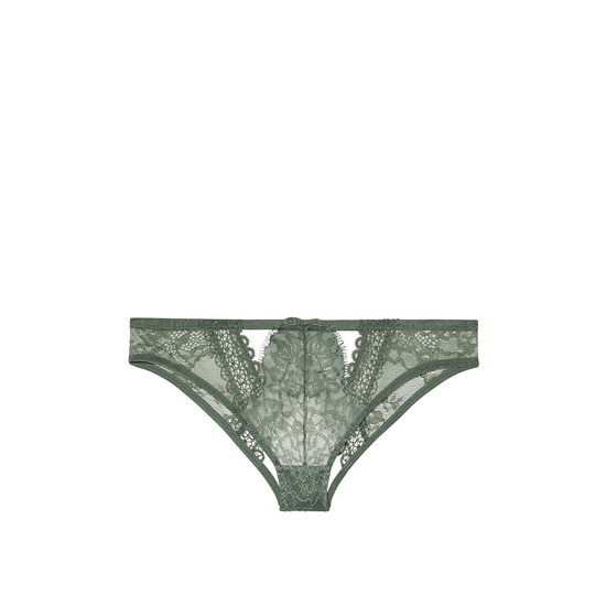 VICTORIA'S SECRET Crochet Peek-A -Boo Cheekini Panty Cadette Green Outlet Store
