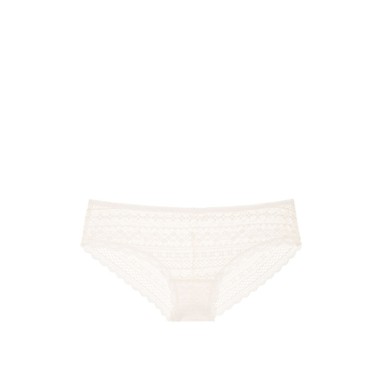 VICTORIA\'S SECRET Lace Cheeky Panty Coconut White Outlet Store