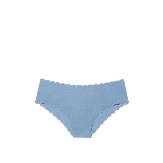 VICTORIA\'S SECRET NEW! Raw Cut Cheeky Panty Faded Denim Scalloped Outlet Store