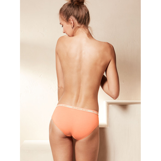 VICTORIA\'S SECRET NEW! Logo-waist Hiphugger Panty Lip Smacker Peach Outlet Store