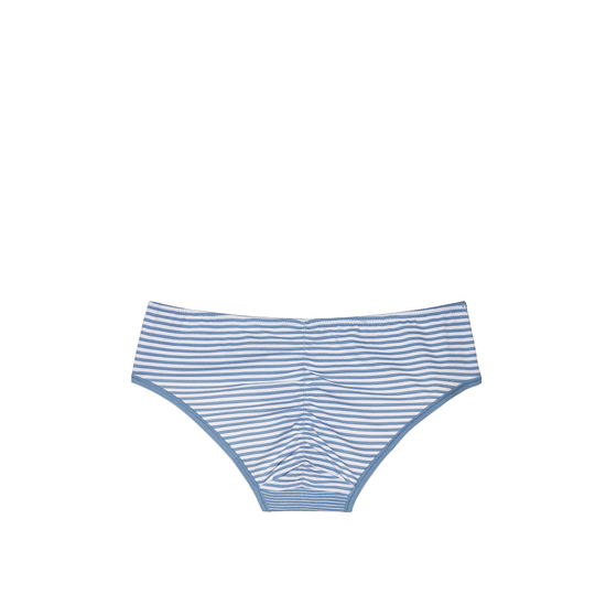 VICTORIA\'S SECRET NEW! Ruched-back Hiphugger Panty Faded Denim Skinny Stripe Outlet Store