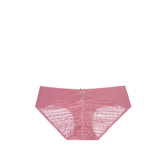 VICTORIA\'S SECRET NEW! Heart Ruched-back Hiphugger Panty Rosy Mauve Outlet Store