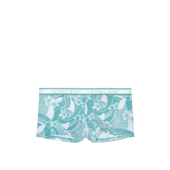 VICTORIA'S SECRET NEW! Logo-waist Shortie Panty Blue Wave Print Outlet Store