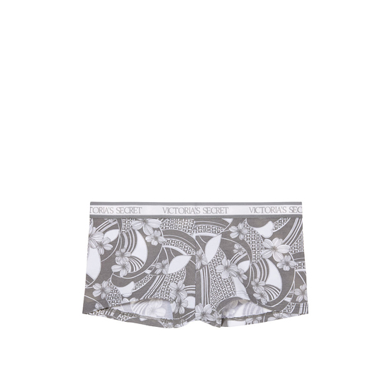 VICTORIA'S SECRET NEW! Logo-waist Shortie Panty Floral Wave Print Outlet Store