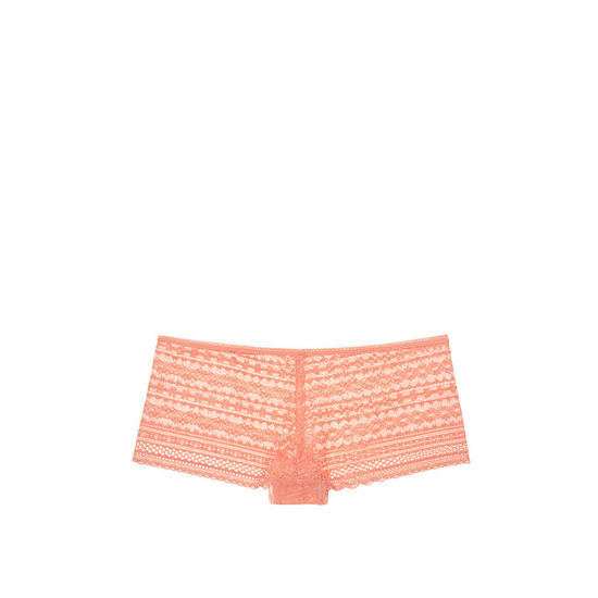 VICTORIA'S SECRET NEW! Lace Shortie Panty Lip Smacker Peach Outlet Store