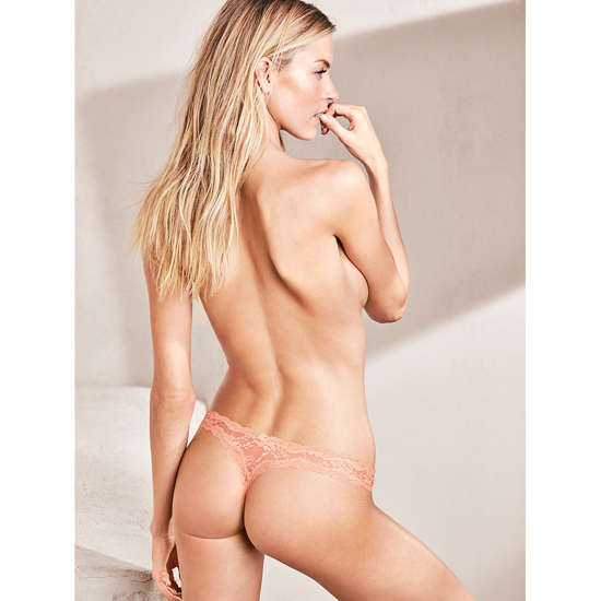 VICTORIA\'S SECRET NEW! Lace thong Peach Melba Outlet Store