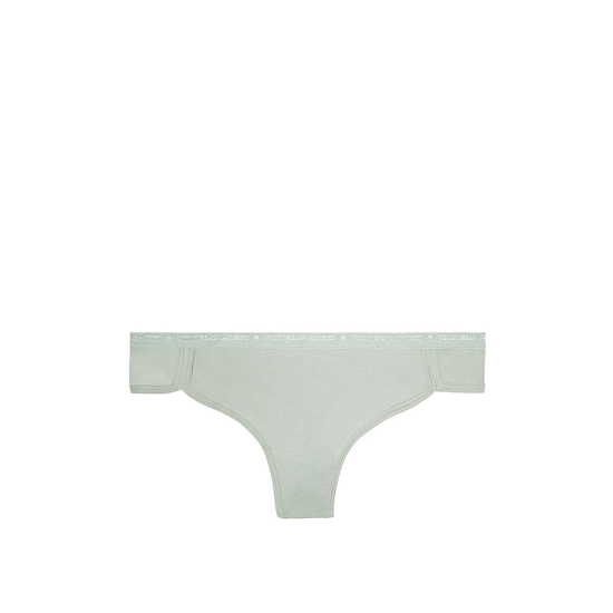 VICTORIA\'S SECRET NEW! Curved-hem Thong Panty Silver Sea Outlet Store