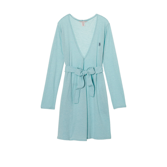 VICTORIA'S SECRET NEW! Sleepover Knit Robe Cozumel Teal Outlet Store