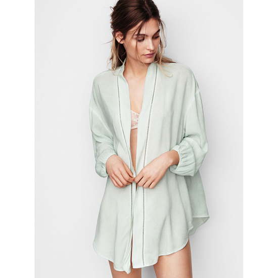 VICTORIA\'S SECRET NEW! Sleep Kimono Light Mint Outlet Store