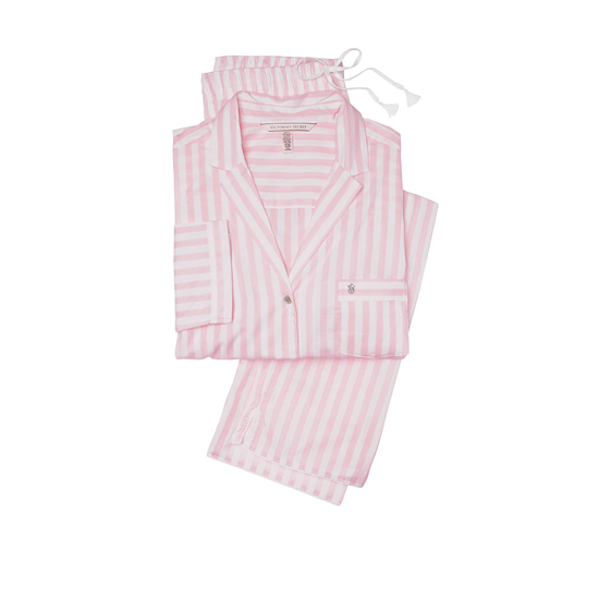 VICTORIA\'S SECRET NEW! The Mayfair Pajama Pink Stripe Outlet Store