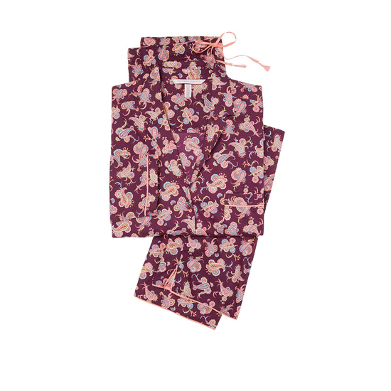 VICTORIA\'S SECRET NEW! The Mayfair Pajama Ruby Wine Paisley Outlet Store