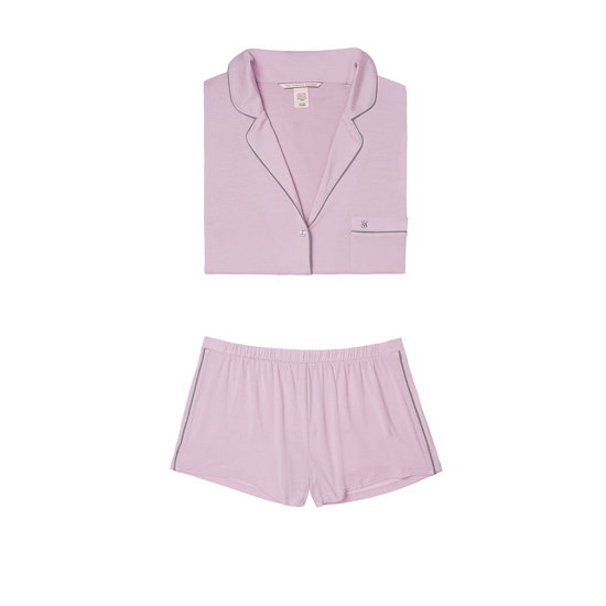 VICTORIA\'S SECRET Supersoft Short PJ Set Fair Orchid Outlet Store