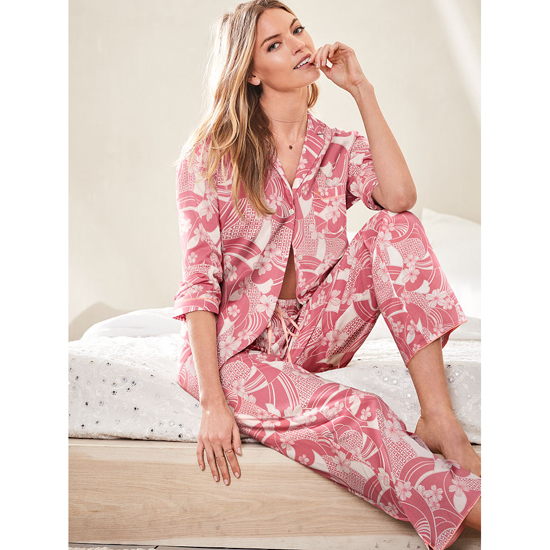 VICTORIA'S SECRET NEW! The Mayfair Pajama Rosy Mauve Floral Outlet Store