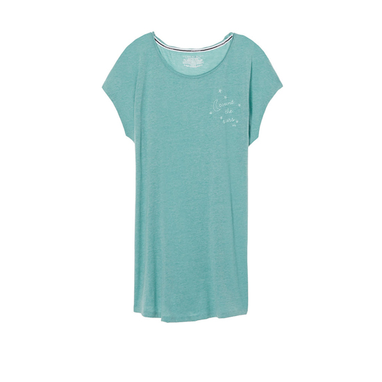 VICTORIA\'S SECRET NEW! Angel Sleep Tee Cozumel Teal/Count The Stars Graphic Outlet Store