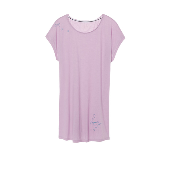 VICTORIA\'S SECRET NEW! Angel Sleep Tee Fair Orchid/Yours Graphic Outlet Store