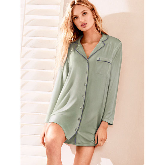 VICTORIA\'S SECRET Supersoft Sleepshirt Silver Sea Outlet Store