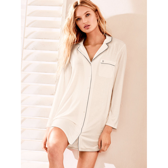 VICTORIA\'S SECRET Supersoft Sleepshirt Coconut White Outlet Store