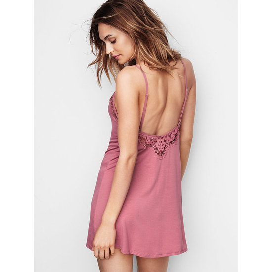 VICTORIA\'S SECRET NEW! Supersoft Low-back Slip Rosy Mauve Outlet Store