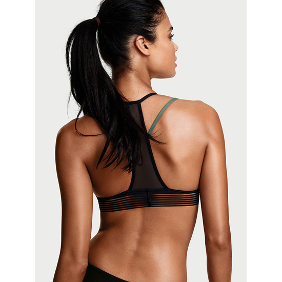 VICTORIA\'S SECRET Strappy Mesh Sport Bra Cadette Green Outlet Store