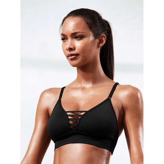 VICTORIA'S SECRET NEW! Triangle Seamless Sport Bra Black Outlet Store